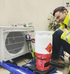 Mechool owner testing air conditioning