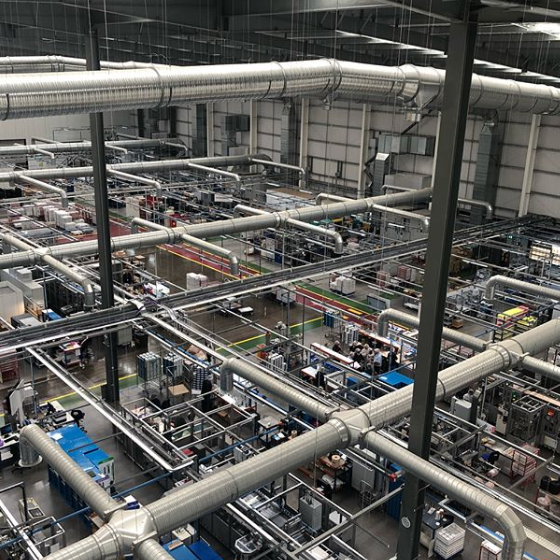 air conditioning in a warehouse